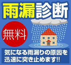 無料 雨漏診断 雨漏りの原因を突き止めます