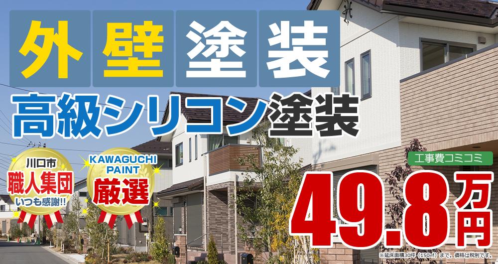 高級シリコン塗装塗装 49.8万円