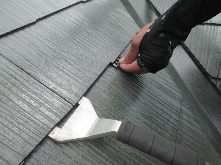 屋根塗装 タスペーサー施工