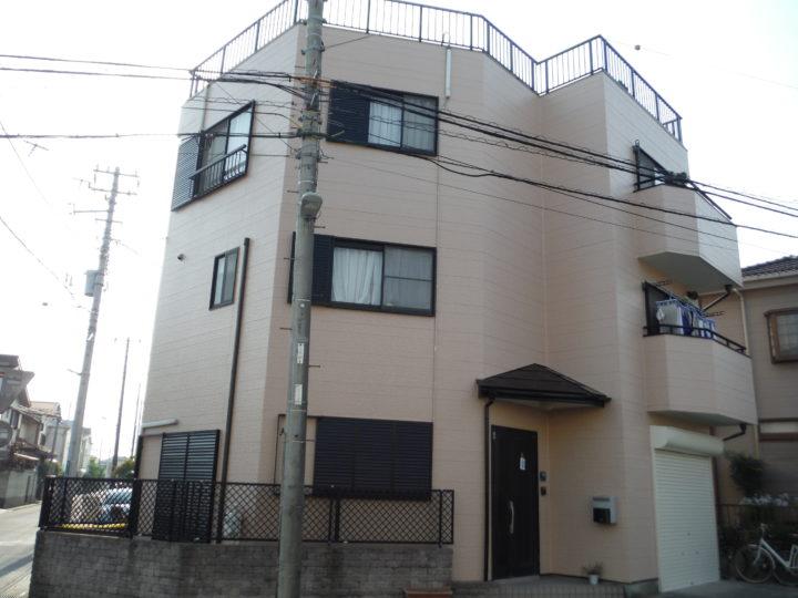 川口市南鳩ケ谷 外壁塗装 H様邸