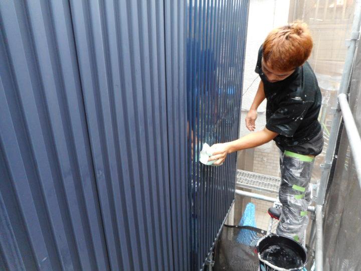 ガルバリウム鋼板洗浄