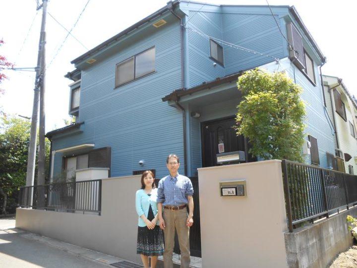 【川口市】奥様が外壁の色をチョイス!大好きな青色の外壁にしてお気に入りです!|川口市安行領家外壁塗装、屋根塗装カワグチペイント