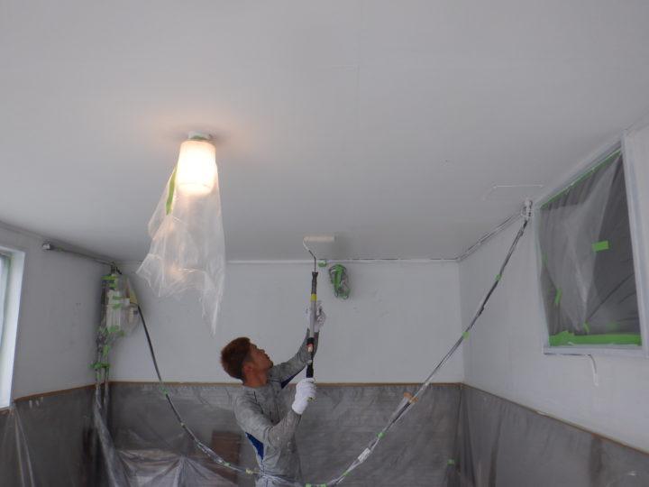 車庫天井塗装