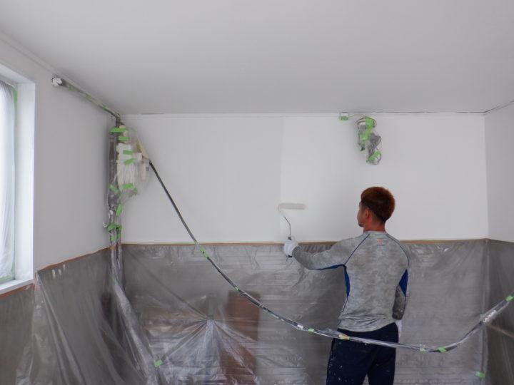 車庫壁塗装