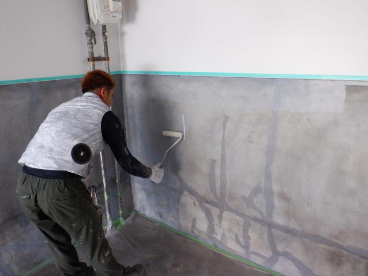 車庫壁塗装(シーラー)