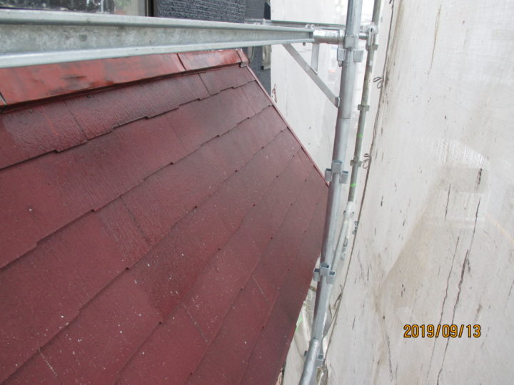 コロニアル屋根下塗り