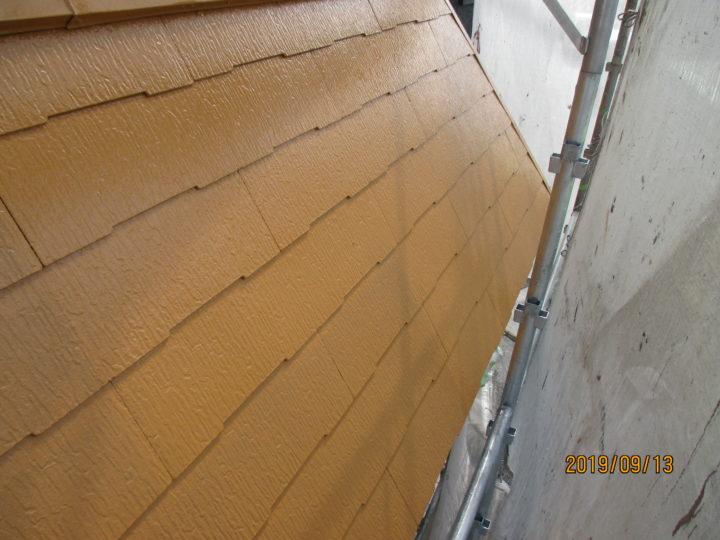 コロニアル屋根上塗り
