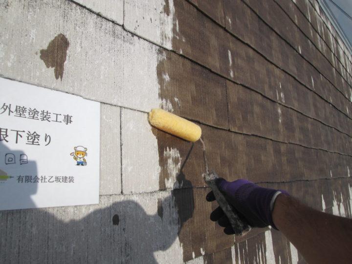 屋根下塗り  一回目