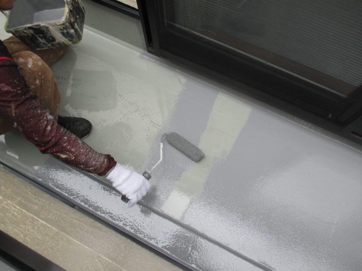 ベランダ床防水 トップ仕上げ