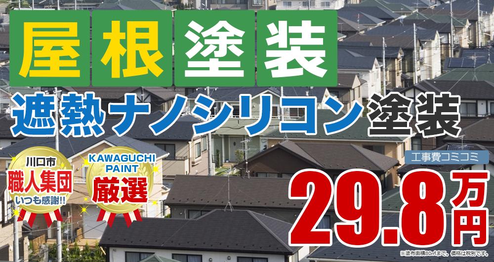 遮熱ナノシリコン塗装塗装 29.8万円