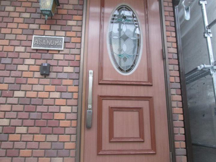 玄関ドア完成後