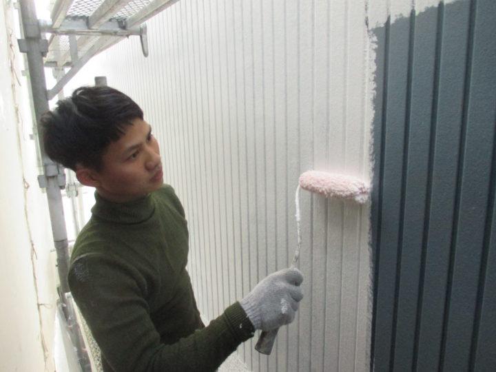 外壁下塗り