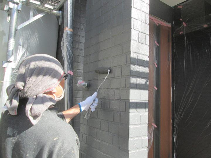 玄関前塗装
