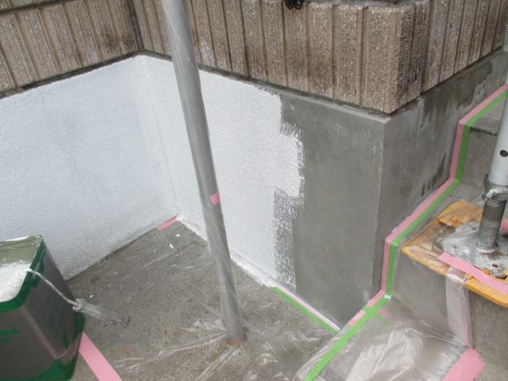 外塀中塗り  パターン付け