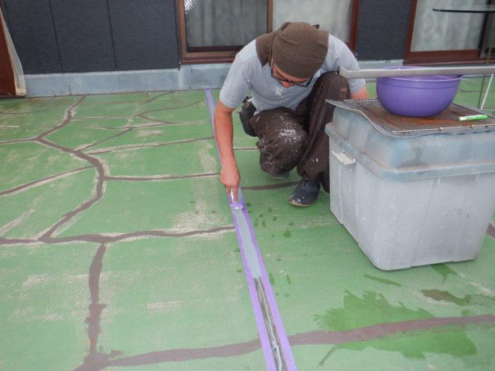屋上防水 コーキング処理