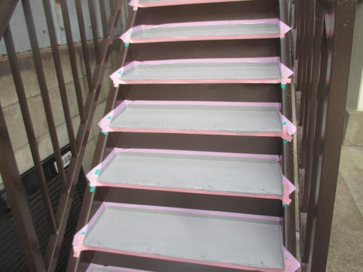 階段上塗り