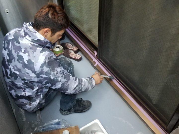 窓下下塗り
