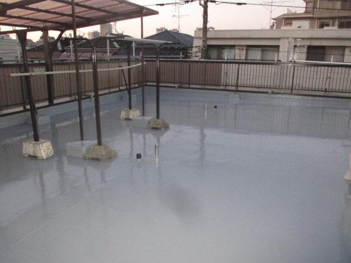 屋上床防水完成