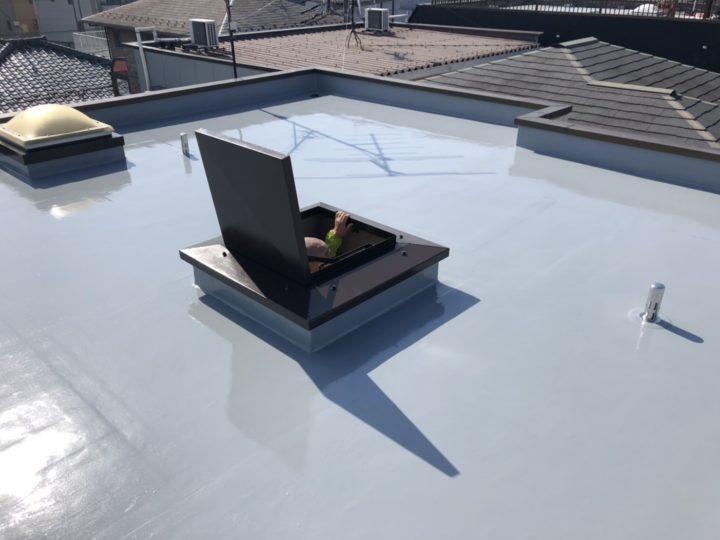 屋上床防水工事完成後
