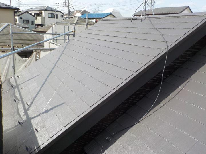 屋根塗装工事完成