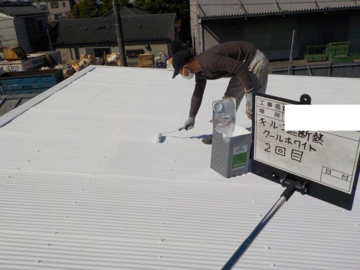 屋根中塗り 2回目