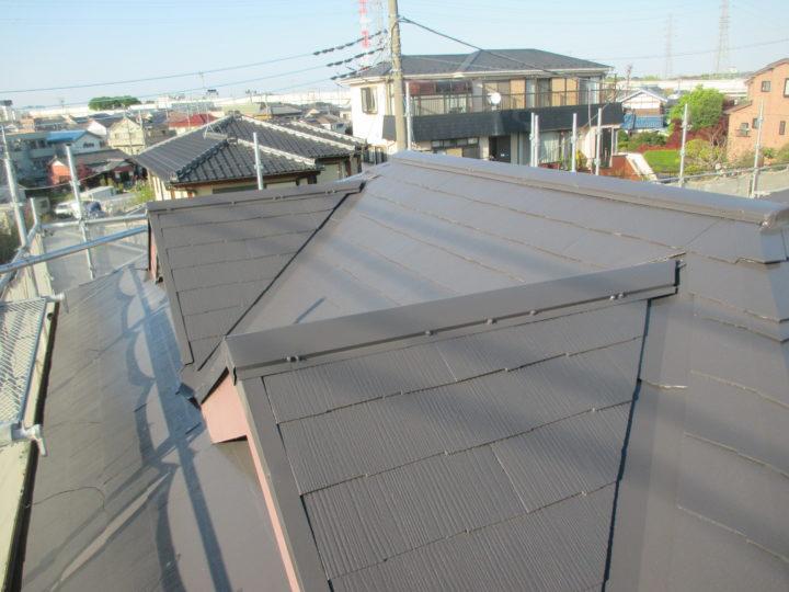 屋根塗装工事完成後