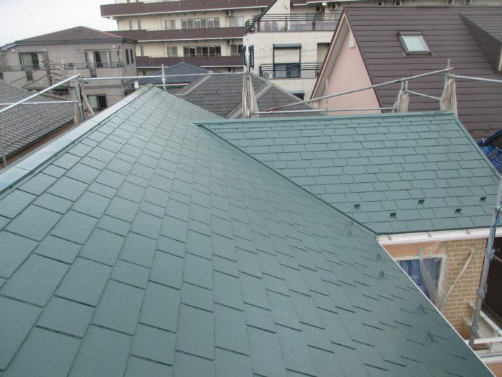屋根塗装完成後